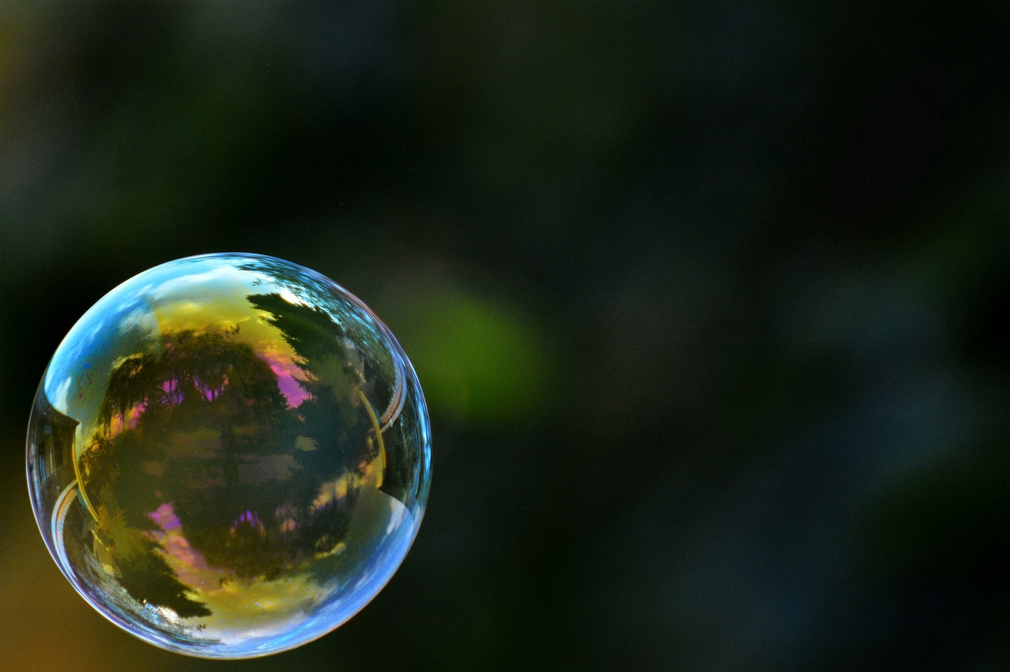 Free stock photo of colorful, ball, float, soap bubble