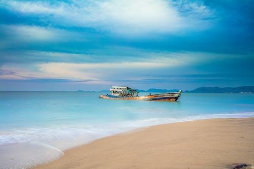 Kostenloses Stock Foto zu entspannen, entspannung, ferien, gesunkenes schiff