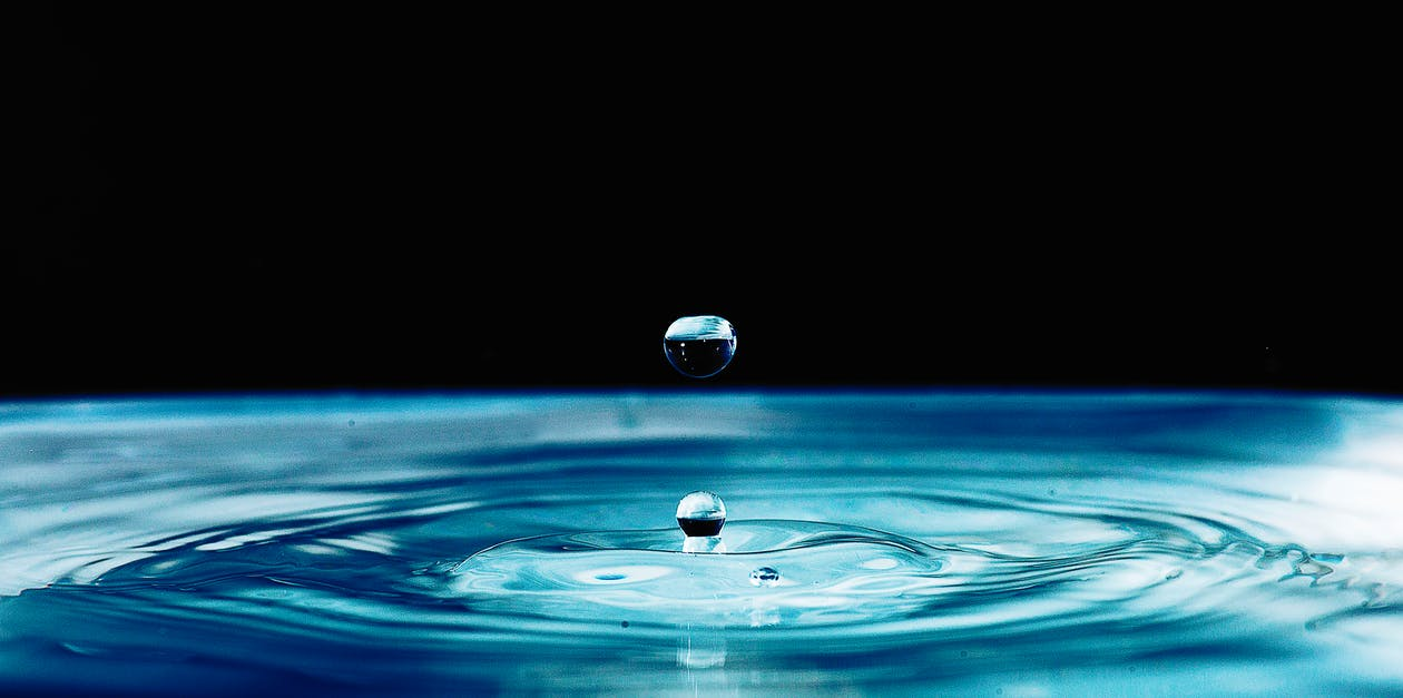 Macro Photography of Water Drop Formation