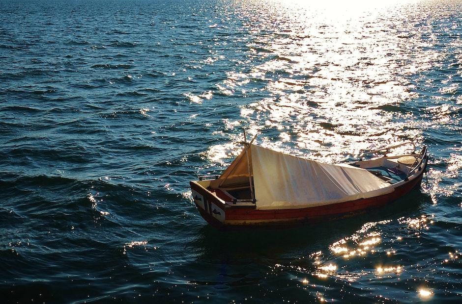 boat, fishing, sea