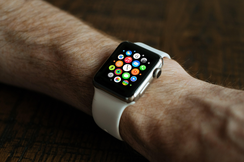 Free stock photo of fashion, hand, apple, wristwatch