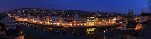 Kostenloses Stock Foto zu lichter der stadt, nacht, nacht lichter, panorama