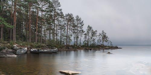 Kostenloses Stock Foto zu kanu, lac, landschaft, langzeitbelichtung