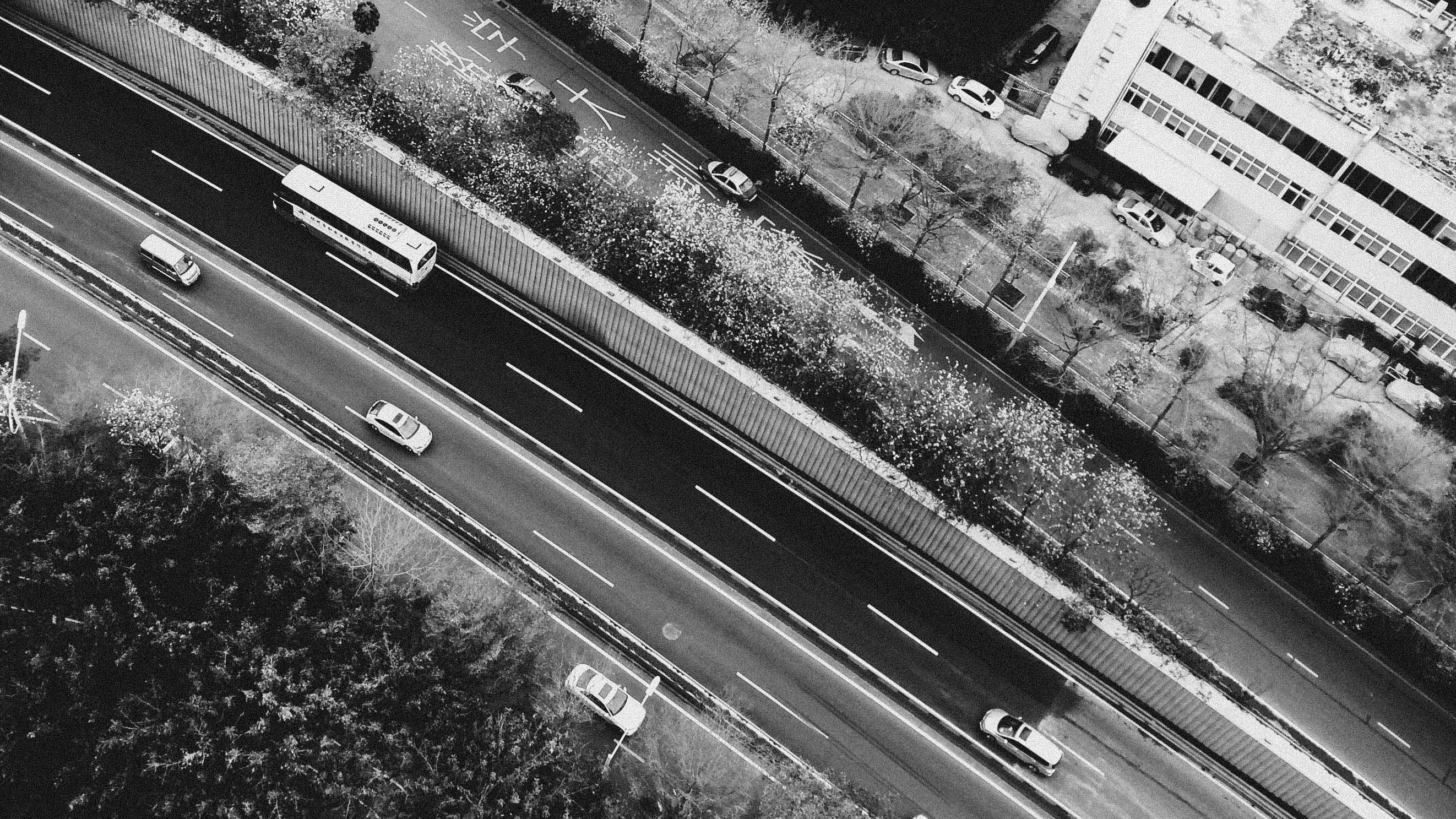 Free stock photo of black and white, HD wallpaper, highway