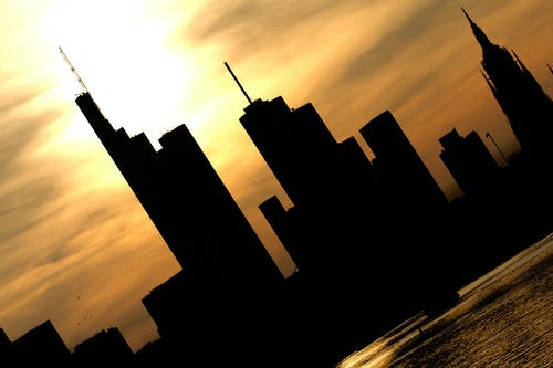Foto profissional grátis de frankfurt, horizonte, linha do horizonte, pôr do sol