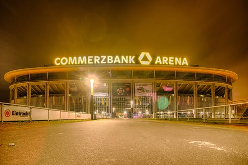 Free stock photo of bright lights, Commerzbank, commerzbankarena, Eintracht