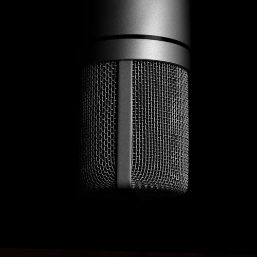 Grey Condenser Microphone Close-up Photography