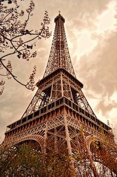 Free stock photo of city, sky, art, eiffel tower