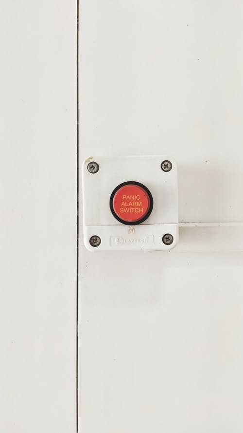 White and Red Panic Alarm Switch