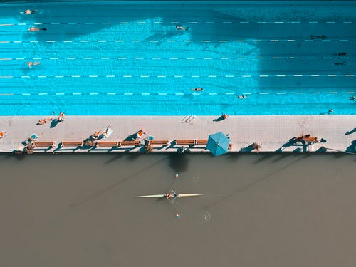 Aerial View of Outdoor Pool