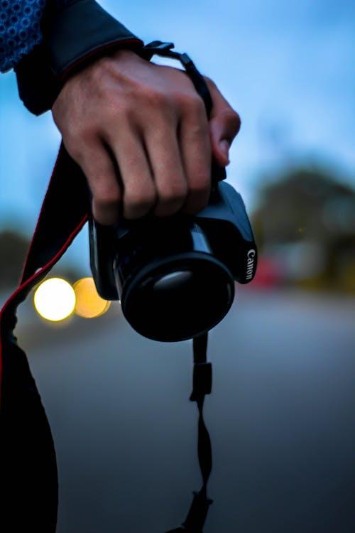 Kostenloses Stock Foto zu autoscheinwerfer, bokeh, canon