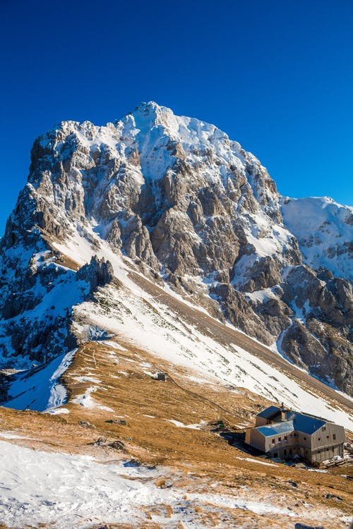 White and Brown Mountain Under Blue Sky