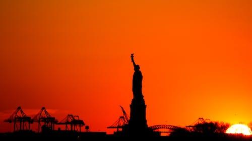 Free stock photo of manhattan, new york, orange