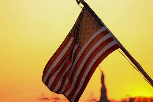 Free stock photo of american flag, flag, manhattan