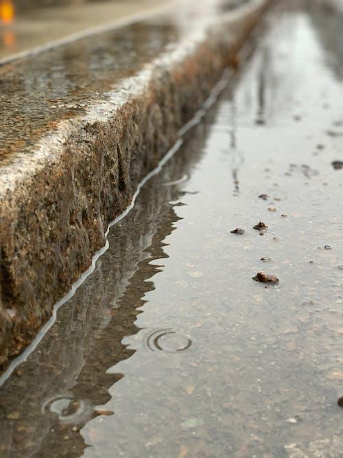 Foto stok gratis air, awan hujan, foto, jalan