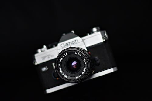 Black and Silver Canon Camera