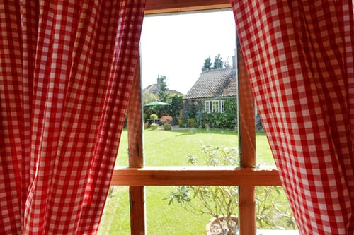 Free stock photo of curtains, window panes