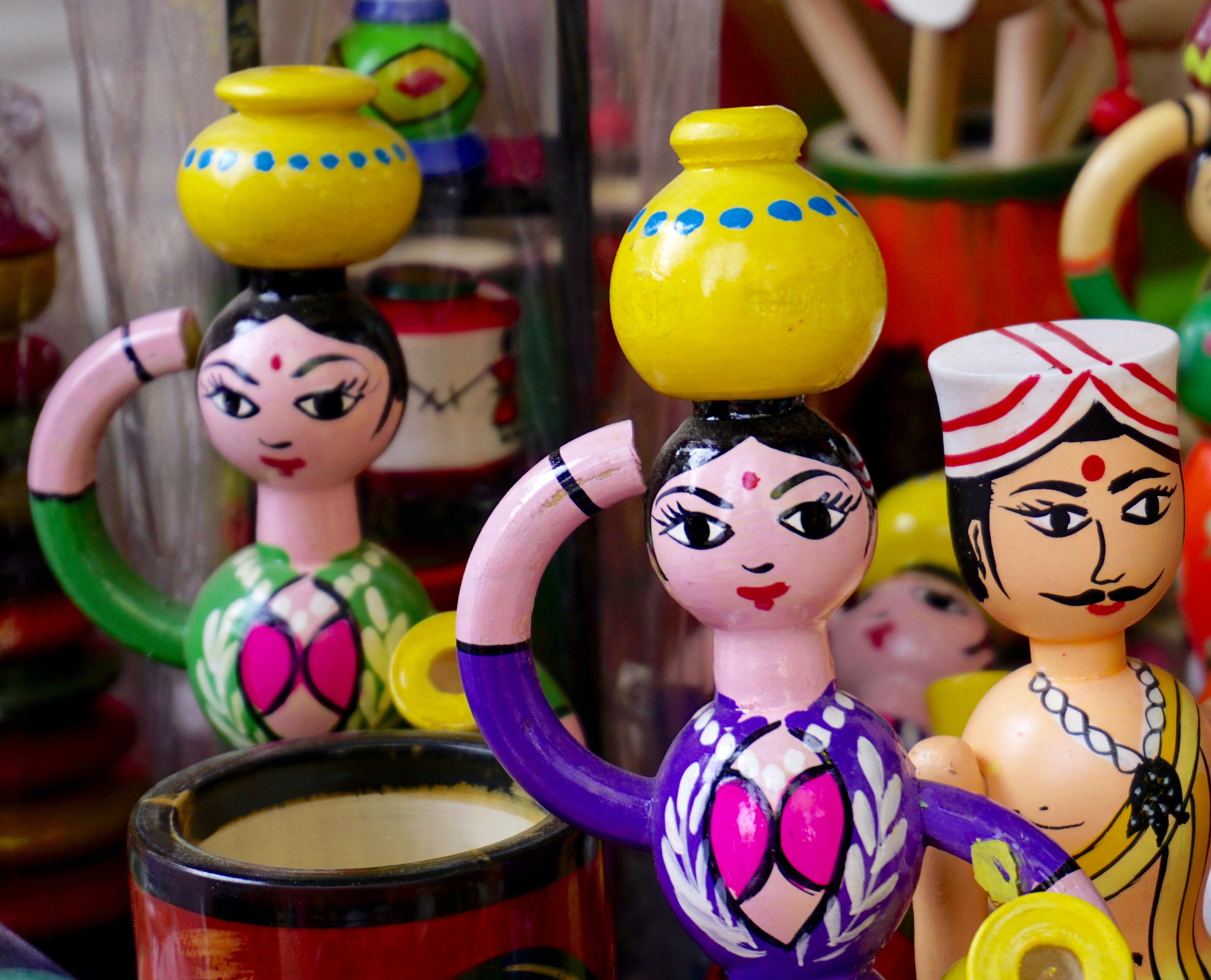 Two Women With Jars on Head Figurines