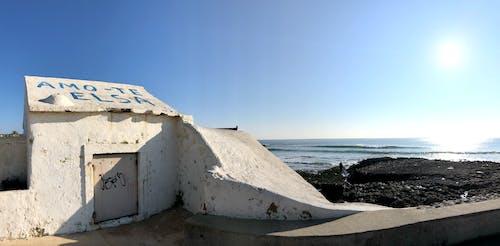 Foto profissional grátis de céu azul, citações, inverno, litoral