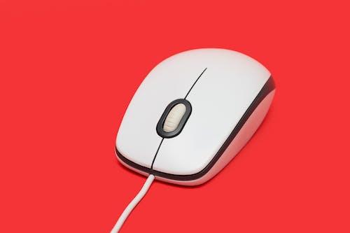 技術, 滑鼠, 紅色背景, 設備 的 免费素材照片