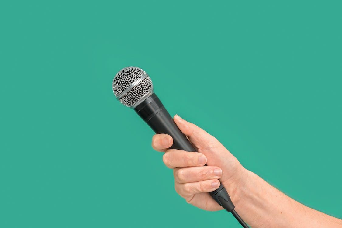 Black Corded Microphone