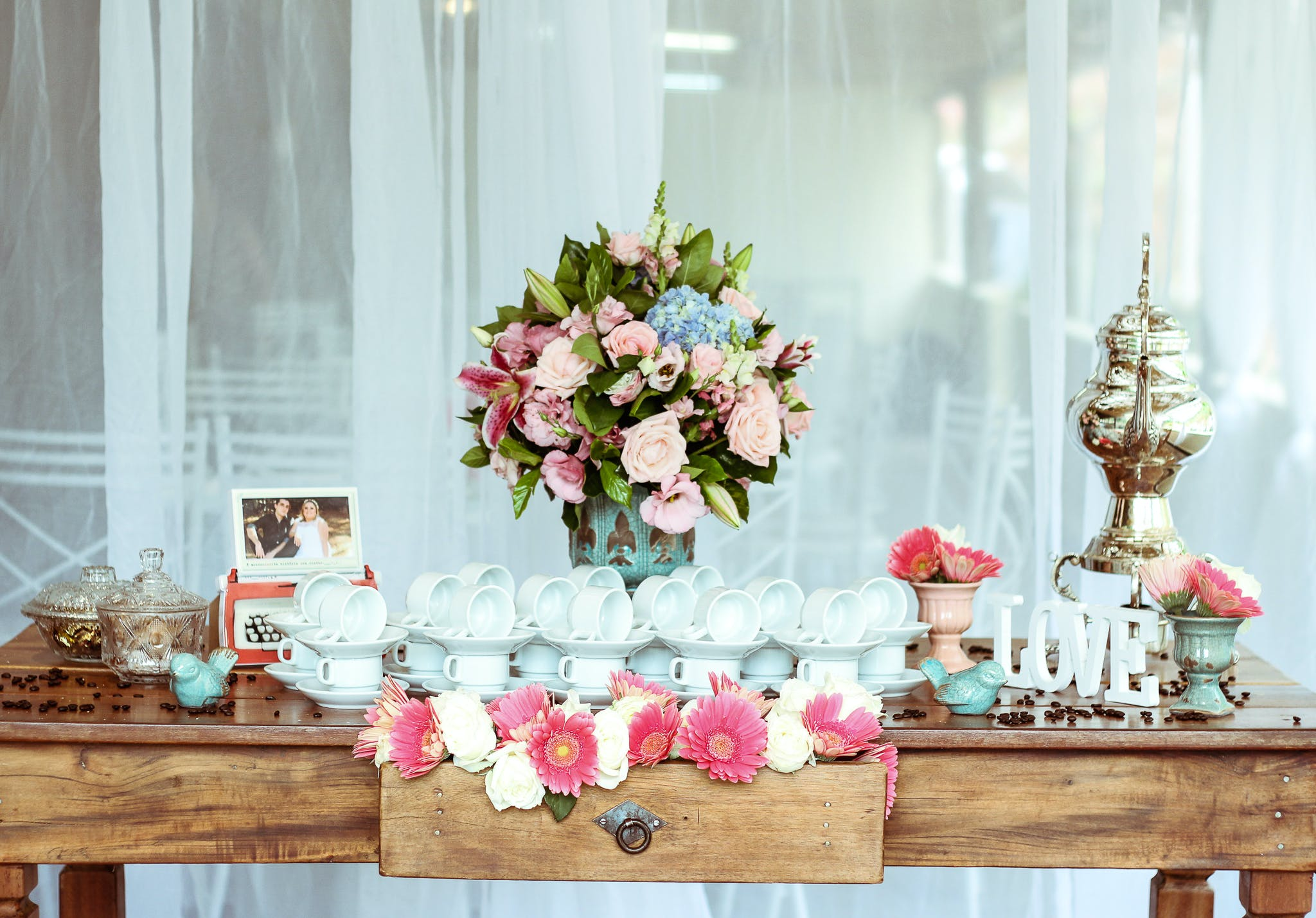 Assorted-color Flowers Center Table Decor