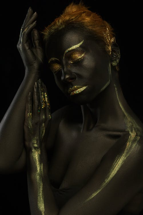 Woman With Gold Body Paint