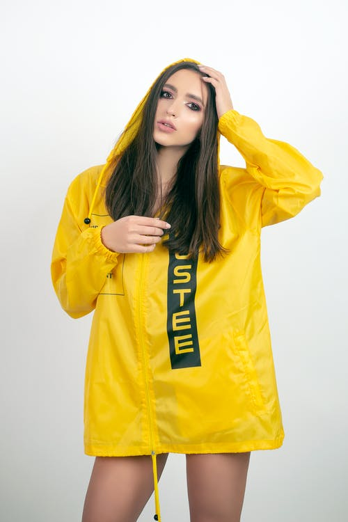 Woman Wearing Yellow Jacket