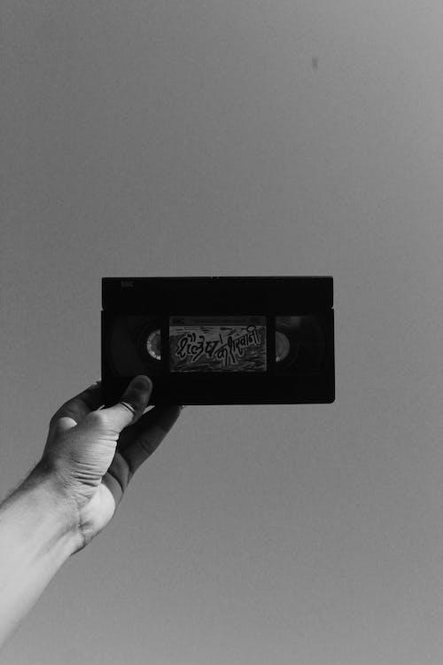 Imagine de stoc gratuită din alb-negru, casetă audio
