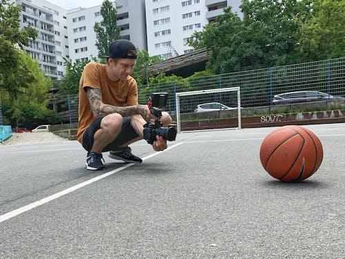 Kostenloses Stock Foto zu action-kamera, ball, basketball, berlin
