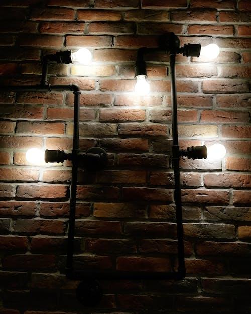 duvar, işık ışınları, Lamba içeren Ücretsiz stok fotoğraf