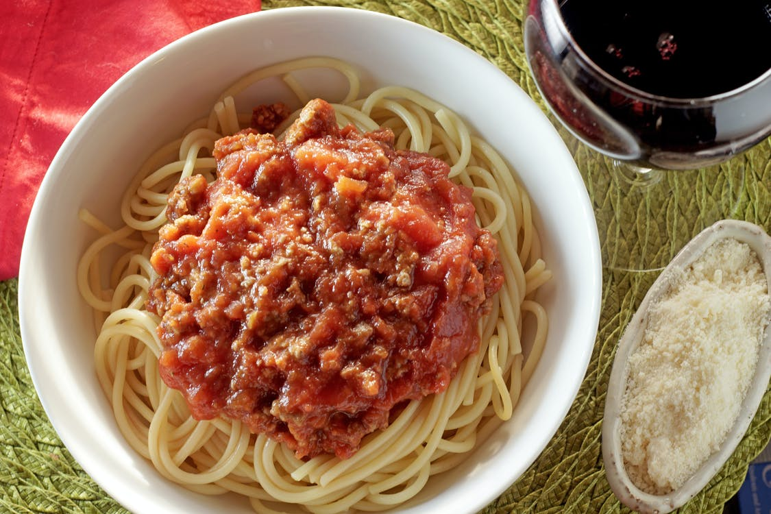 Free stock photo of meat sauce, pasta, spaghetti