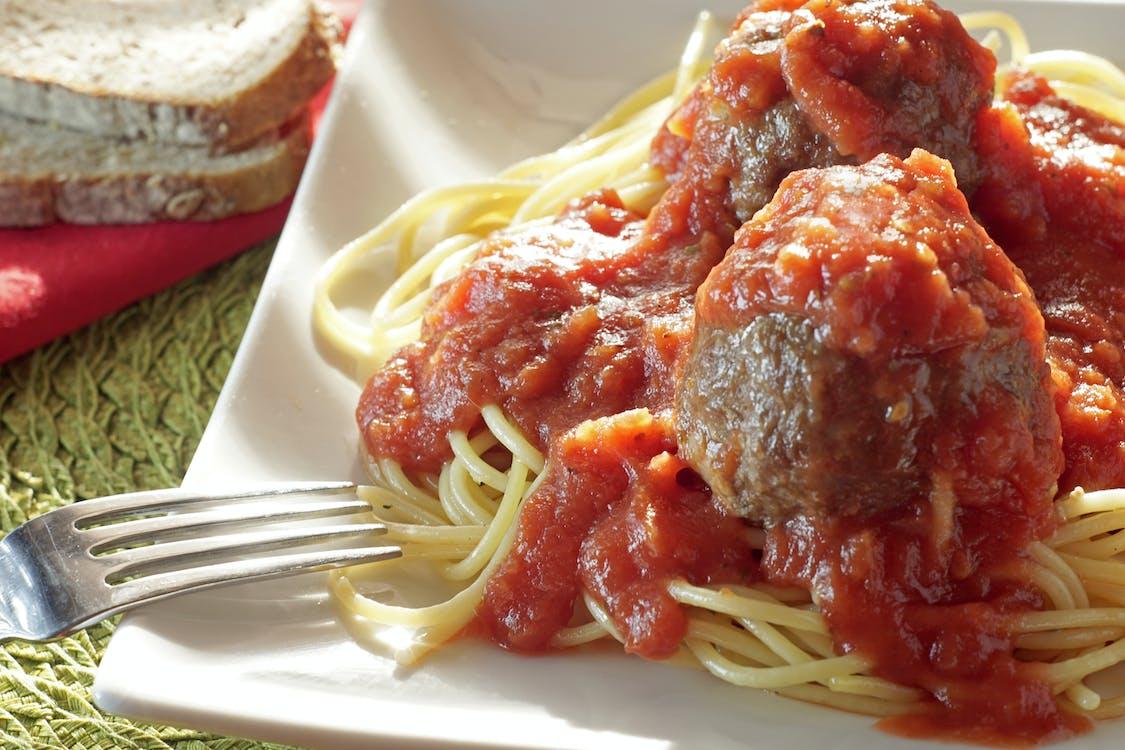 Ilmainen kuvapankkikuva tunnisteilla lihapullia, pasta, spagetti