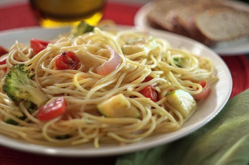 Free stock photo of pasta, primavera, spaghetti