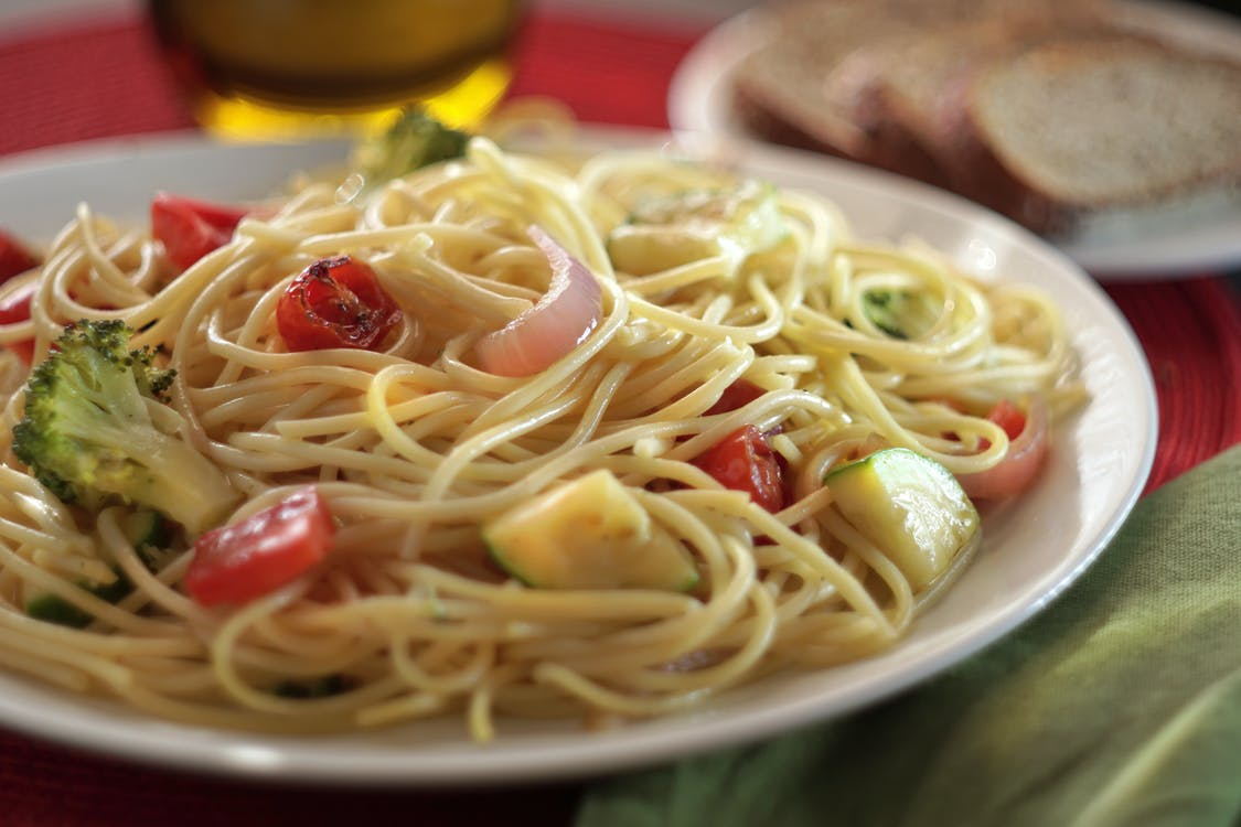 Free stock photo of pasta, primavera, spaghetti