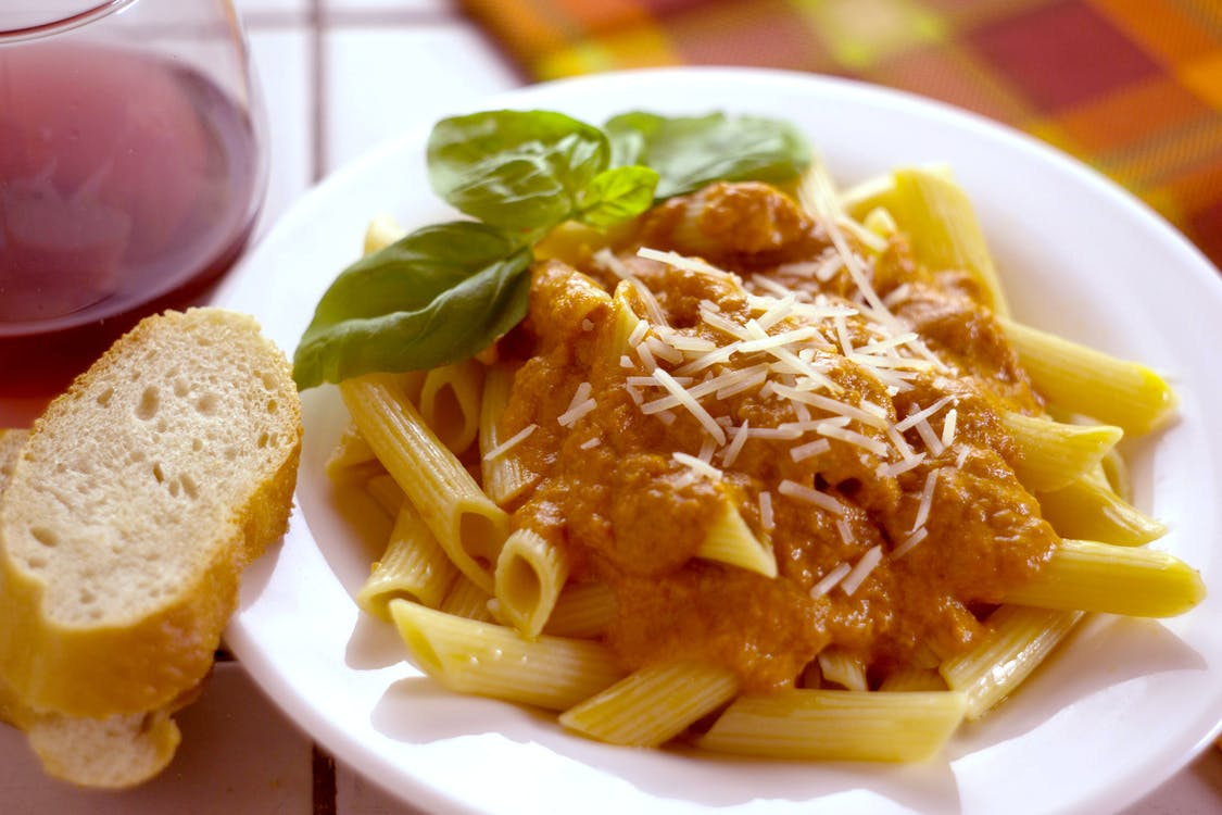 Free stock photo of pasta, pasta with vodka sauce, penne
