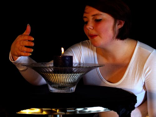 Free stock photo of Girl with candle