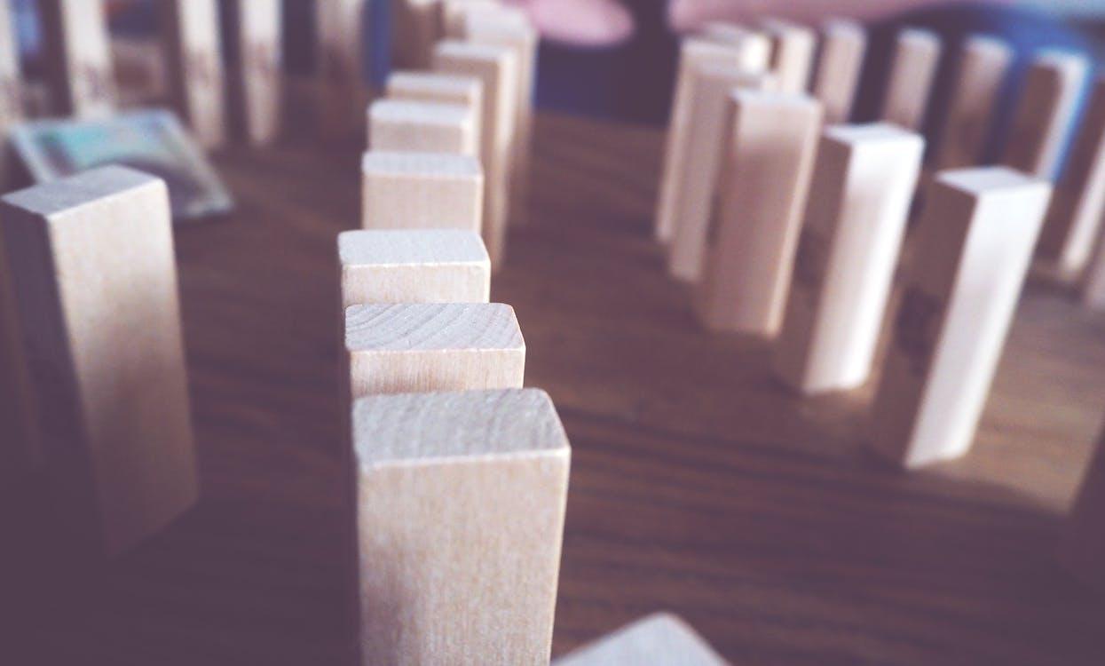 Brown Wooden Dominoes