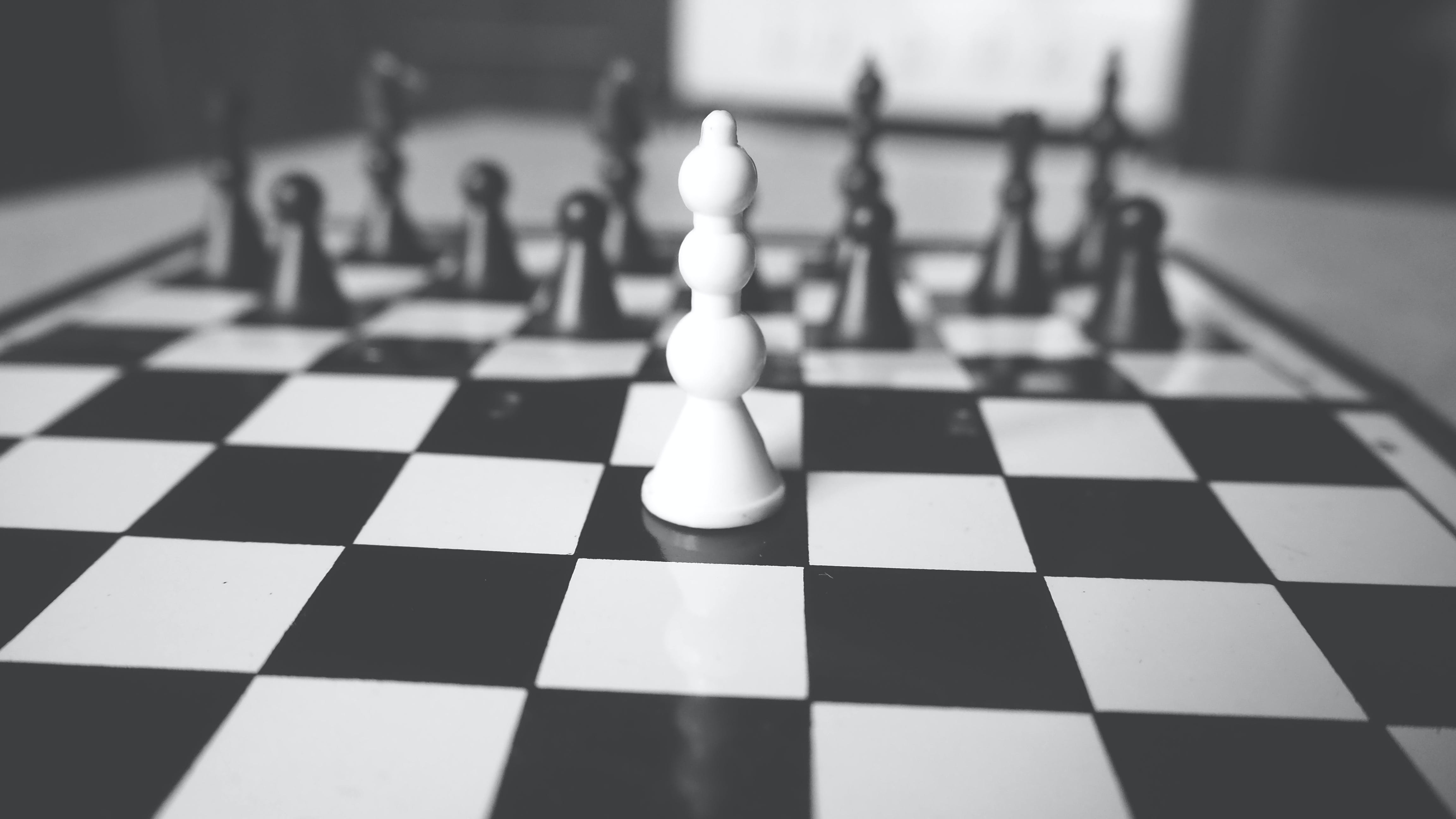 White and Black Chess Board
