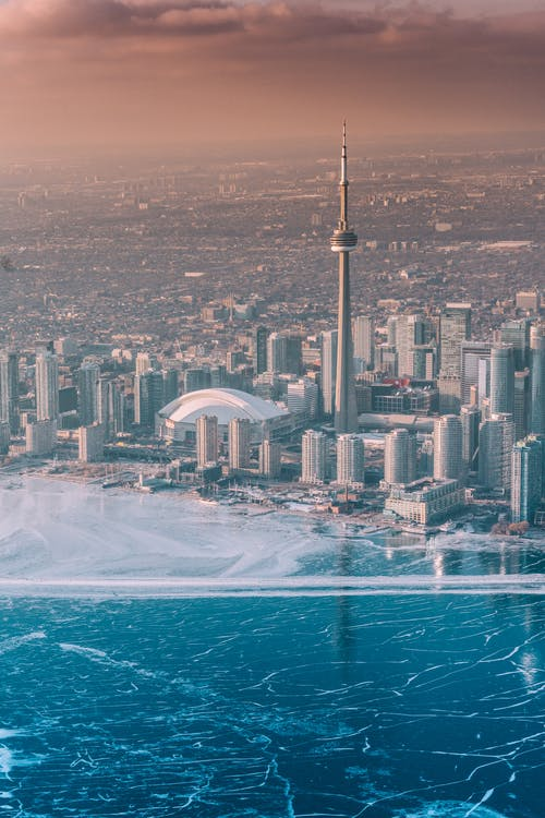 Aerial Photo of City Near Coastline