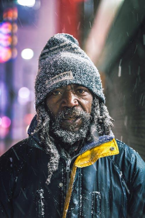 Man Wearing Zip-up Jacket