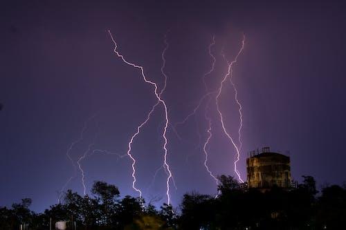 Ingyenes stockfotó becsapódás, ég, eső, fák témában
