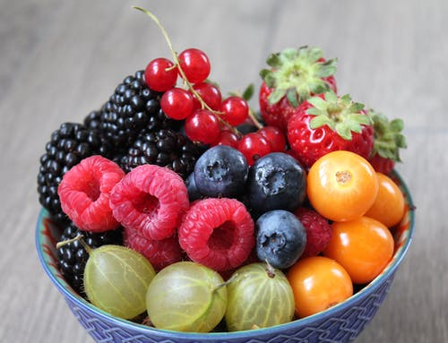 Free stock photo of berries, blueberries, bowl of fruit