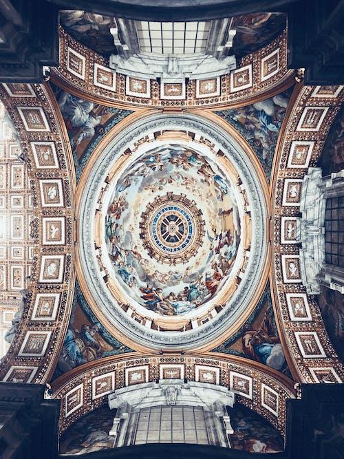 Fotobanka sbezplatnými fotkami na tému bazilika, bazilika svätého petra, klenba, nástenná maľba