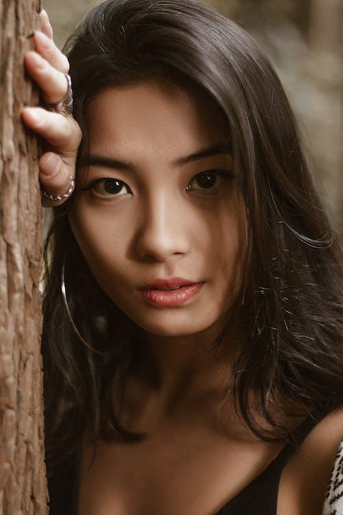 азіатська дівчина, азіатська жінка, великий план