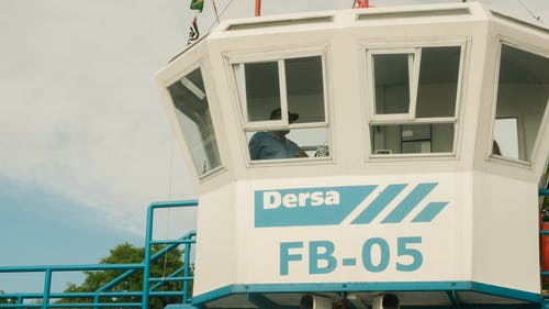 Man Standing in Dersa Fb-05 Guard House Under White and Blue Sky