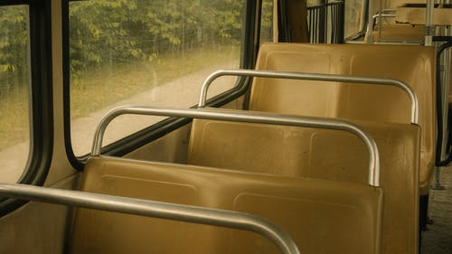 Empty Seats Of A Bus