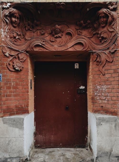 Foto d'estoc gratuïta de arquitectura, entrada, mur de maons, porta