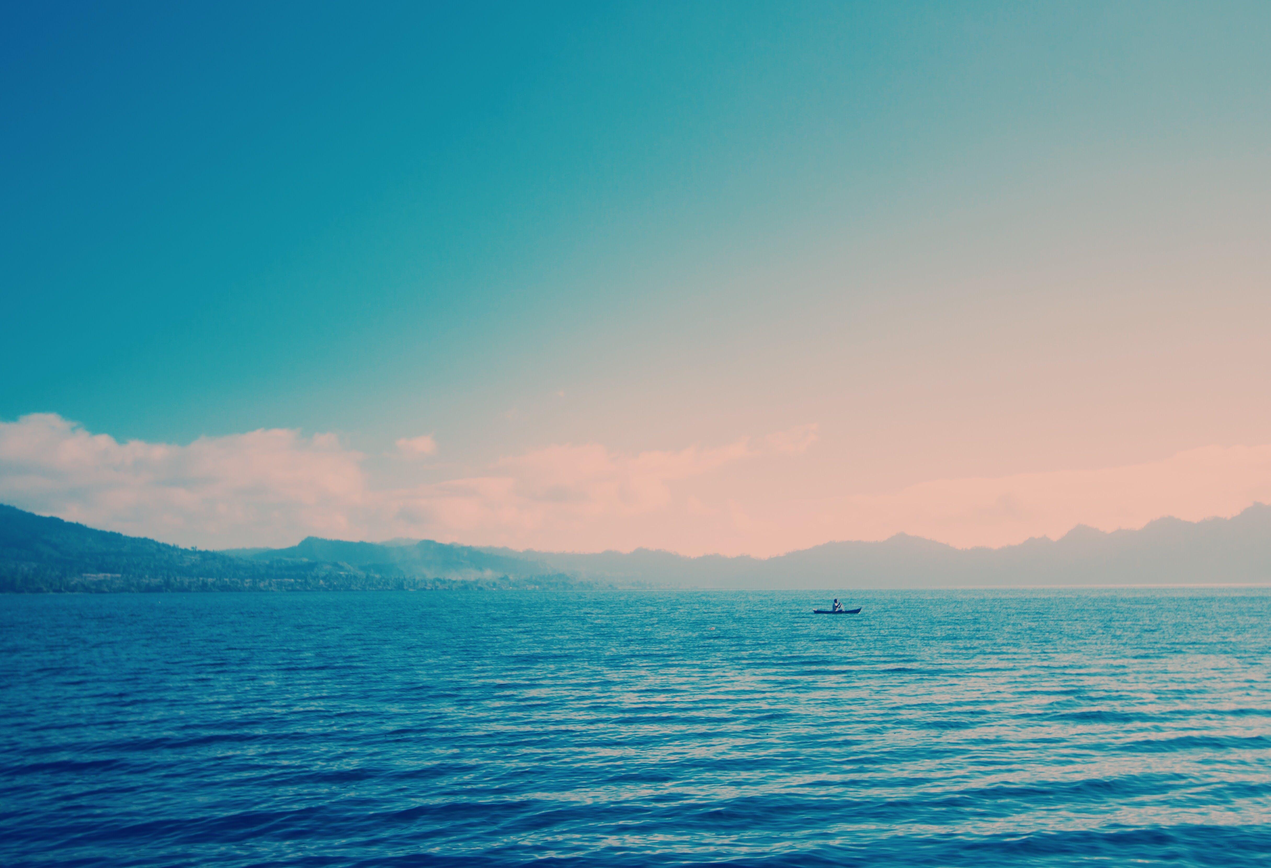 Foto d'estoc gratuïta de acomiadar-se, aigua, cel, horitzó