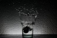 black-and-white, water, dark